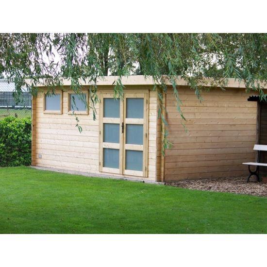Kyara cabanes de jardin modernes en bois chalet center for Cabane en bois moderne