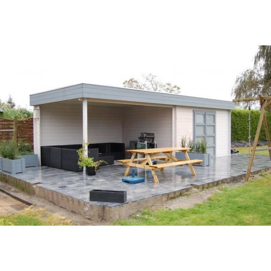 Mimas 700 abris pool house en bois chalet center - Abri de jardin pool house ...