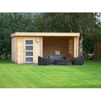 Mimas prima abris pool house en bois chalet center - Abri de jardin pool house ...