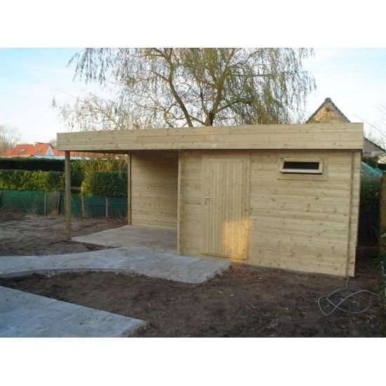 Mimas viola abris pool house en bois chalet center for Chalet de jardin 12m2