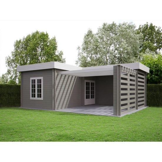 mimas monet abris pool house en bois chalet center. Black Bedroom Furniture Sets. Home Design Ideas