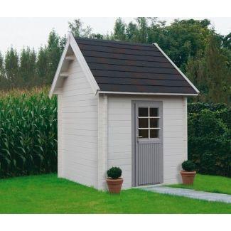 chalet de jardin toit plat chalet center. Black Bedroom Furniture Sets. Home Design Ideas