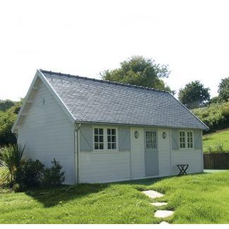 Abris de jardin en bois cottage country chalet center for Jardin style cottage anglais