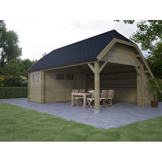 Queberon abris de jardin cottage et country en bois chalet center - Steen en constructie ...