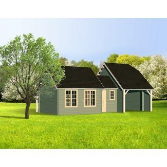 Abri de jardin m tallique chalet center for Jardin style cottage anglais