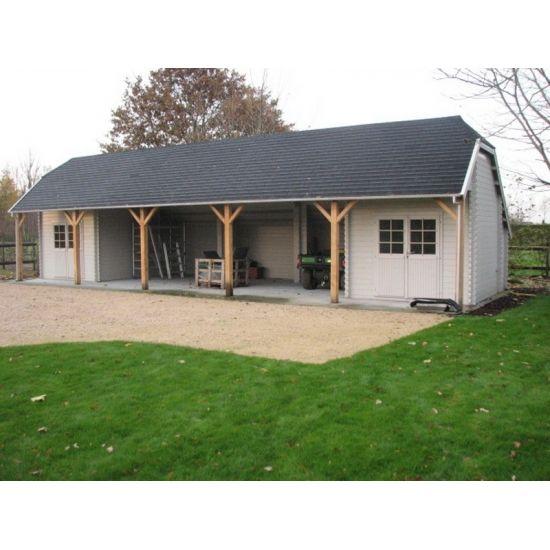 Fougere abris de jardin cottage et country en bois for Abri et chalet de jardin