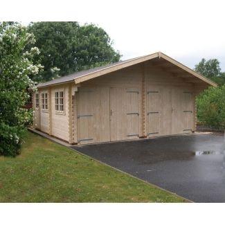 garage en bois chalet center. Black Bedroom Furniture Sets. Home Design Ideas
