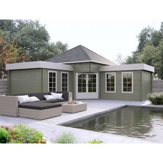 calumma cabanons de jardin toit pyramide en bois chalet center. Black Bedroom Furniture Sets. Home Design Ideas